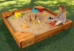Как сделать песочницу на даче своими руками